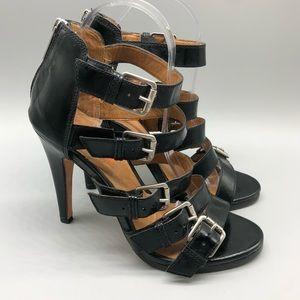 Kors Michael Kors Black strappy cage heels